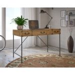 Kathy Ireland Golden Pine 48 Inch Writing Desk – Ironworks