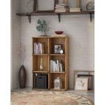 Kathy Ireland Golden Pine 6-Cube Bookcase – Ironworks