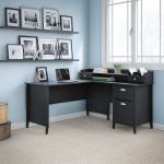 Kathy Ireland Office 60 W L Desk and Organizer -Connecticut