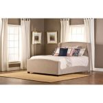 Khaki Wingback Upholstered Queen Size Bed – Barrington