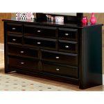 Laguna Black Contemporary 9-Drawer Dresser