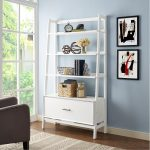 Large Modern White Bookcase – Landon