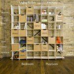 Large White 49 Wave Cube Storage Bookcase – Organization