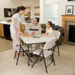 Lifetime Products 37 Inch Almond Card Table