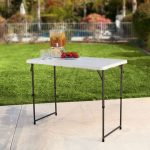 Lifetime Products 4 ft. x 2 ft. Fold-in-Half Adjustable Height Table