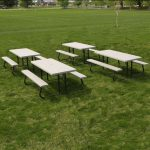 Lifetime Products Putty 4-Pack 6 ft. Folding Picnic Tables