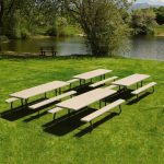 Lifetime Products Putty 4-Pack 8 ft. Picnic Tables