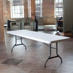 Lifetime Products White 4-Pack 8 ft. Folding Banquet Tables