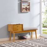 Light Brown Entryway Bench – Landon