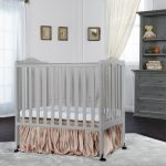 Light Gray 2-in-1 Lightweight Folding Portable Crib
