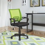Lime Green Mesh Back and Black Office Chair