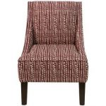 Line Dot Holiday Red Swoop Arm Chair