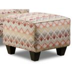 Loxley Southwest Upholstered Casual Accent Ottoman