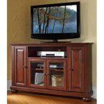 Mahogany 48 Inch Corner TV Stand – Alexandria