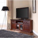 Mahogany 60 Inch Corner TV Stand