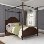 Mahogany Brown Queen Canopy Bed – Country Comfort