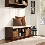 Mahogany Entryway Storage Bench – Brennan