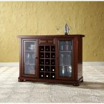 Mahogany Sliding Top Bar Cabinet – Alexandria