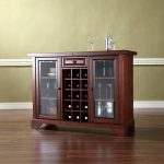 Mahogany Sliding Top Bar Cabinet – LaFayette