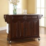 Mahogany Stainless Steel Top Kitchen Cart