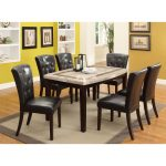Marble and Espresso 5-Piece Dining Set – Montreal