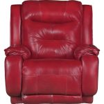Marsala Red Leather-Match Swivel Rocker Recliner – Cresent