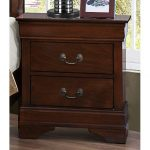 Mayville Brown Cherry Traditional Nightstand
