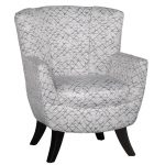 Mercury White and Gray Club Chair – Bethany