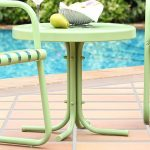 Metal Green Outdoor Patio Side Table – Retro