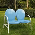 Metal Loveseat in Sky Blue – Griffith