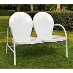 Metal Loveseat in White – Griffith