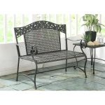 Metal Outdoor Patio Bench – Ivy League