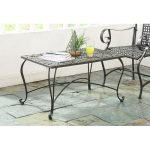 Metal Outdoor Patio Coffee Table – Ivy League