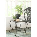 Metal Outdoor Patio End Table – Ivy League