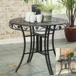 Metal Outdoor Patio Multi-Use Round Table – Ivy League