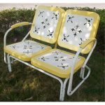 Metal Yellow Retro Glider