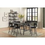 Metal and Glass 5-Piece Counter Height Dining Set – Appert