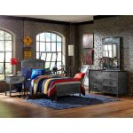 Metallic Contemporary Twin Metal Bed – Urban Quarters