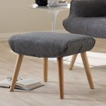 Mid-Century Indpired Upholstered Stool