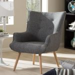 Mid-Century Inspired Upholstered Occasional Armchair