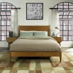 Mid-Century Modern Acorn Brown Queen Platform Bed – Landon