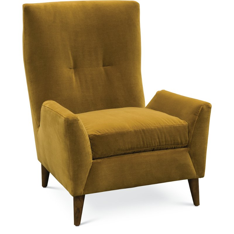 a9b59ec226a7 Mid-Century Modern Marzipan Yellow Wing Chair – Kelsey