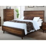 Mid-Century Modern Walnut Brown King Size Bed – Yasmin