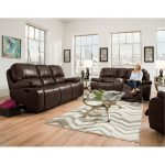 Midnight Brown Manual Reclining Sofa & Loveseat – Jamestown