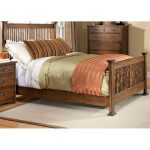 Mission King Size Bed – Oak Park