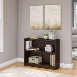 Mocha Cherry 2-Shelf Bookcase – Universal