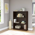 Mocha Cherry 3-Shelf Bookcase – Universal