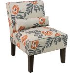 Mod Floral Orange Armless Chair