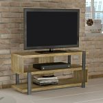 Modern 48 Inch Light Walnut TV Stand