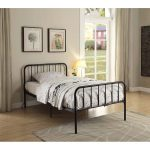 Modern Black Twin Metal Bed